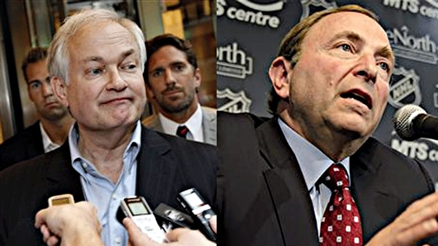 Donald Fehr et Gary Bettman