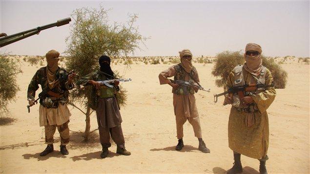 Des islamistes du groupe Ansar Dine, au Mali