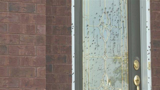Des maisons ont été aspergées de goudron à Drummondville la nuit dernière.