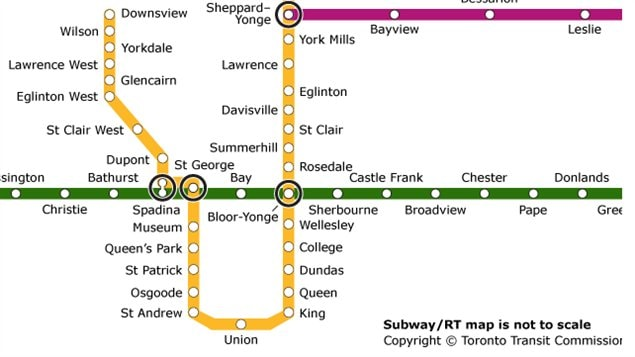 Plan De Metro Toronto | Subway Application