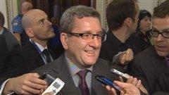 Le maire Labeaume était tout sourire mercredi après-midi.