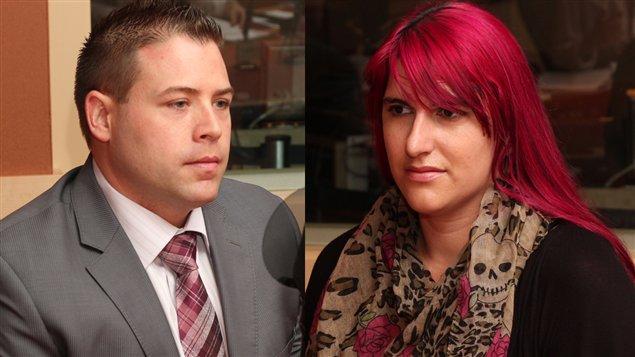 Patrick Léveillé et Geneviève Fortin  ©Radio-Canada/Marie-Sandrine Auger