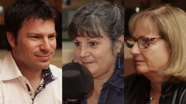 Alain Gagnon, Anne Robert et Danielle Ouellet  ©Radio-Canada/Marie-Sandrine Auger