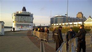 Près de 9000 croisiéristes vont débarquer vendredi au port de Québec.