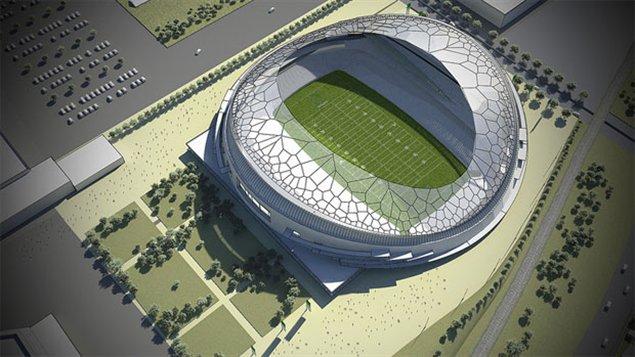 Plan préliminaire du futur stade de Regina