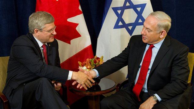 Le premier ministre Harper et son homologue israélien en septembre à New York.
