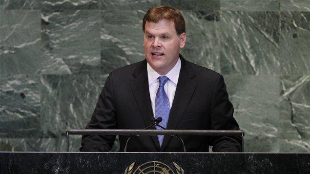 Le ministre des Affaires étrangères du Canada, John Baird
