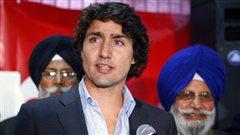 Justin Trudeau à Calgary, le 3 octobre 2012
