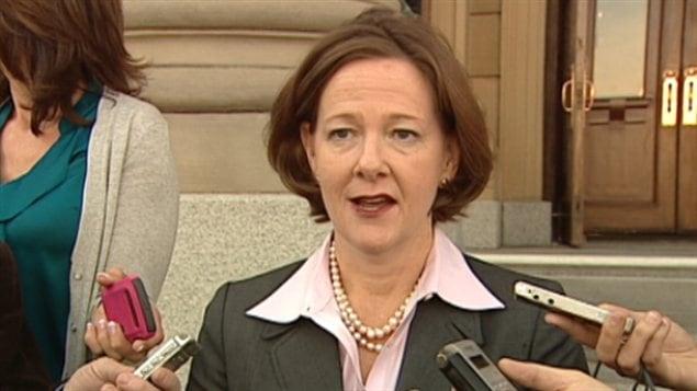La première ministre de l'Alberta Alison Redford