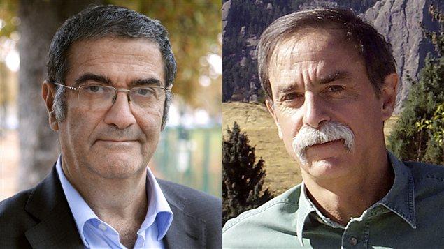 Serge Haroche et David Wineland - AFP_121009_bw8kn_physique-nobels-chercheurs_sn635