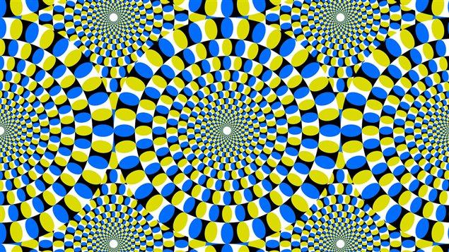 <b>Illustration psychédélique avec illusion d'optique</b> | ©iStock