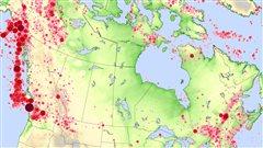 Tremblements de terre au Canada, 1627 - 2010