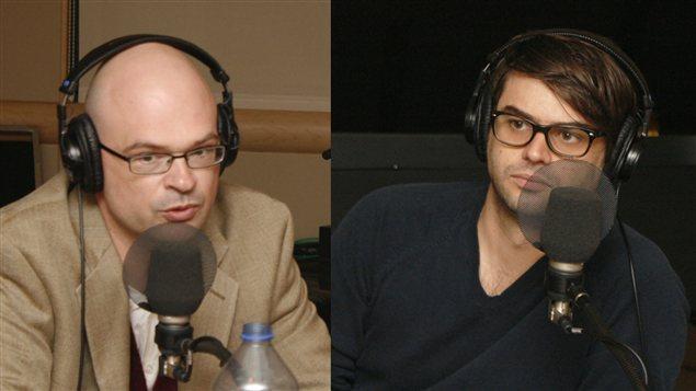 Christian Nadeau et Mathieu Grondin   © Radio-Canada / Philippe Couture