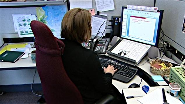 Une employée de bureau (archives).