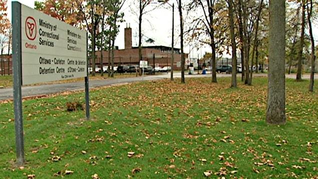 Le centre de détention d'Ottawa-Carleton.