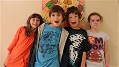 Alexis, Audrey Maude, Carolanne et Hughes de l'école l'Envolée de Shippagan