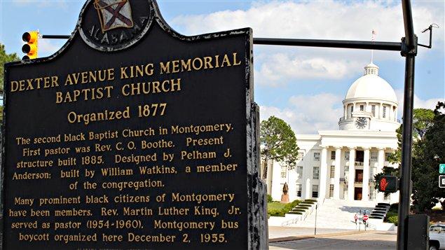 L'église de Martin Luther King est située à deux pas du Parlement sécessionniste de l'Alabama.