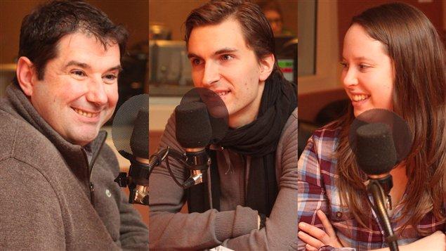 Jérôme Ferrer, Jamison-L'Écuyer et Guillaume Cantin   ©Radio-Canada/Marie-Sandrine Auger