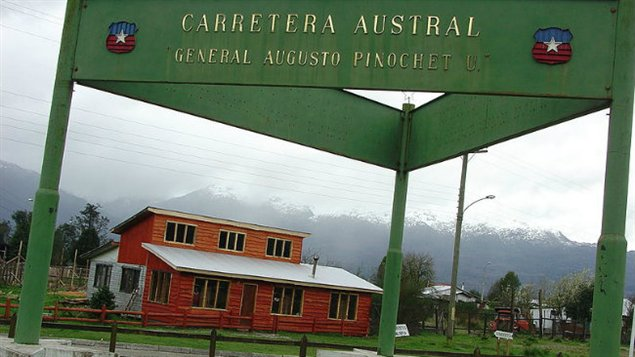 Cette route, commencée par le dictateur Augusto Pinochet, n'a jamais été terminée.
