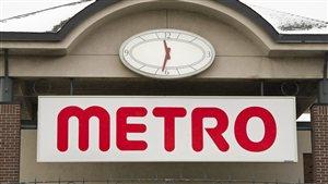 Enseigne d'une épicerie Metro