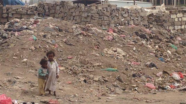 Un bidonville de la capitale Sanaa