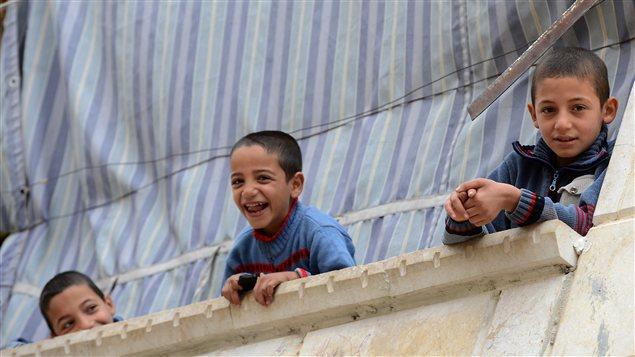 Des enfants dans le quartier Salaheddine dans le nord d'Alep