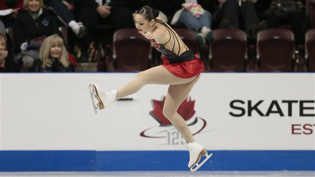 La Canadienne Kaetlyn Osmond pendant son programme libre aux Internationaux Patinage Canada