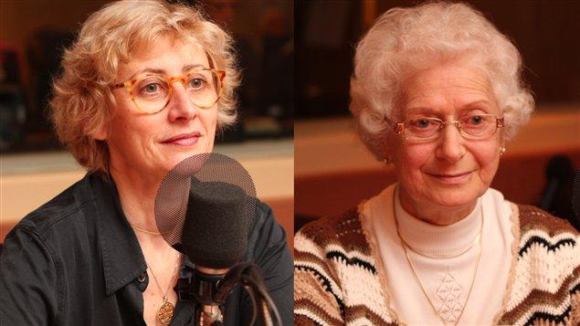 Nathalie Zajde et Marguerite Elias Quddus  ©Radio-Canada/Marie-Sandrine Auger