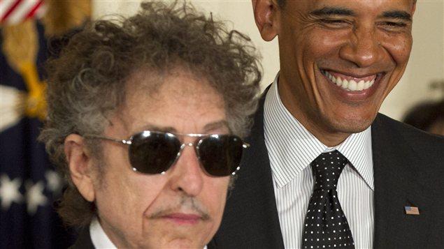 Obama et Bob Dylan, le 29 mai 2012