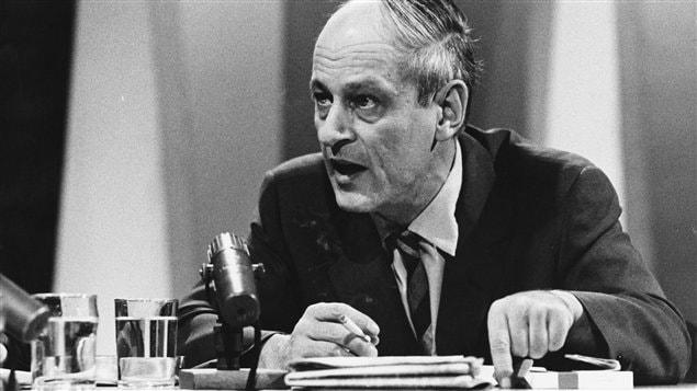 Le président du Parti québécois, René Lévesque
