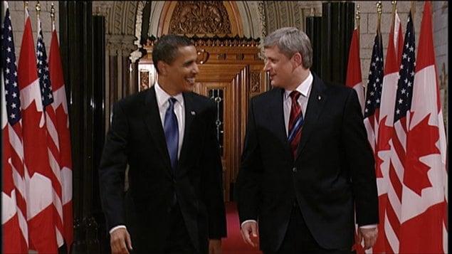 Barack Obama et Stephen Harper (archives)