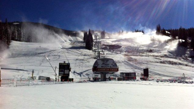 Le site d'entraînement à Copper Mountain au Colorado