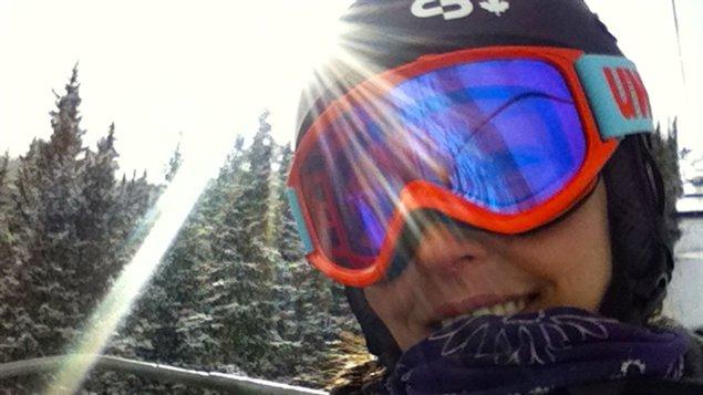 Caroline Calvé à l'entraînement à Copper Mountain au Colorado
