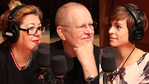 Genevi�ve St-Germain , Fr�d�ric Metz et Madeleine Arcand  �Radio-Canada/Marie-Sandrine Auger