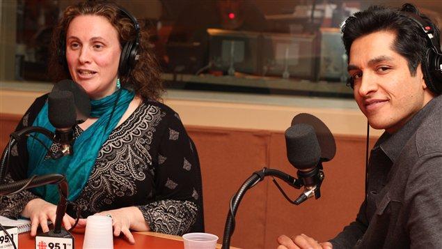 Caroline Tabah et Sugar Sammy ©Radio-Canada/Marie-Sandrine Auger