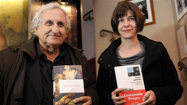 Avraham B. Yehoshua et Emmanuelle Pireyre, lauréats respectifs du Médicis étranger et du Médicis 2012.
