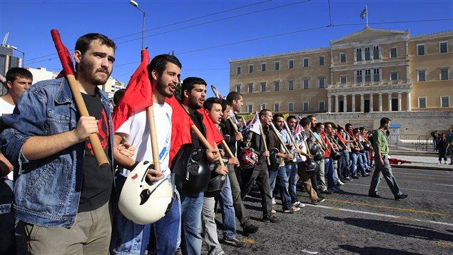 Manifestants à Athènes