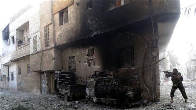 Combats dans la banlieue de Damas