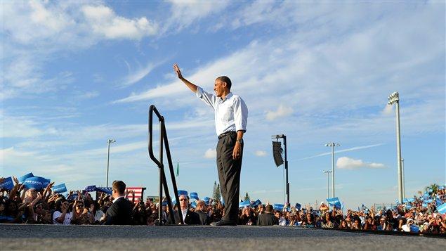Barack Obama lors du rassemblement démocrate le 4 novembre dernier en Floride