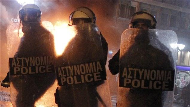Policiers grecs