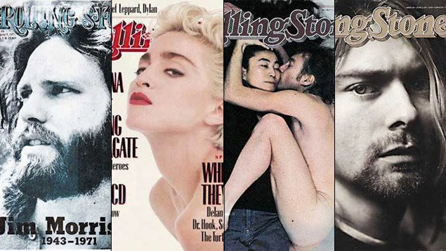 Quelques couvertures du magazine Rolling Stone