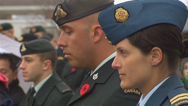 Des centaines de militaires à la base de Valcartier.