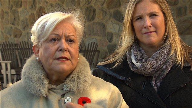Louise Harel et Cindy Leclerc, de Vision Montréal