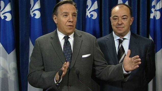 Le chef de la CAQ, François Legault, et le porte-parole du parti en matière de Finances, Christian Dubé.