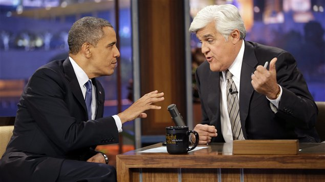 L'émission The tonight show with Jay Leno du 24 octobre 2012 avec Barack Obama.