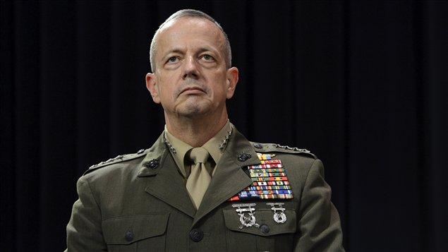 Le commandant américain de la force l'OTAN en Afghanistan, John Allen, à Bruxelles le 10 octobre 2012.
