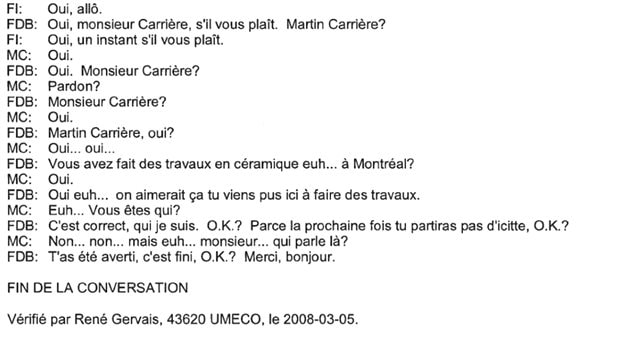 Verbatim de la discussion entre Francesco Del Balso et Martin Carrier