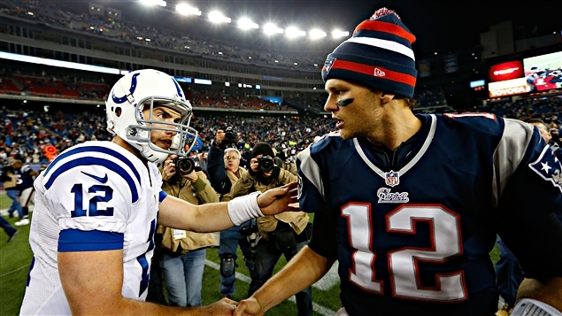 Andrew Luck et Tom Brady