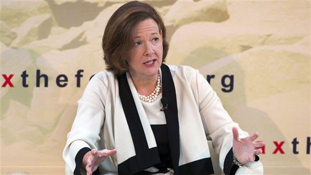 La première ministre de l'Alberta, Alison Redford