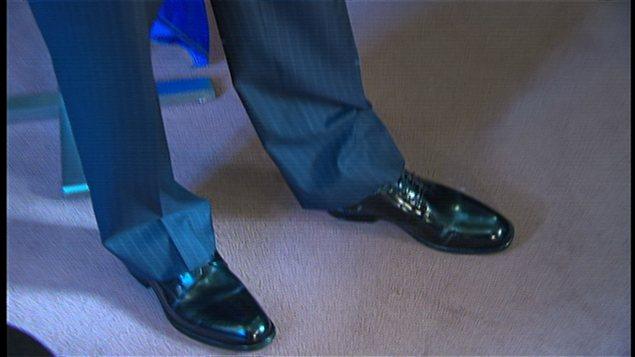 Les nouveaux souliers du ministre des Finances, Nicolas Marceau
